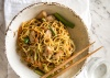 Shredded Chicken on Crispy Noodle with Bean Sprouts