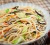 Vegetable & Chinese Mushroom on Crispy Noodle