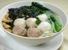 1505 紫菜三寶湯麵 Cuttlefish, Fish Balls, Meat Balls +Seaweed Noodle Soup
